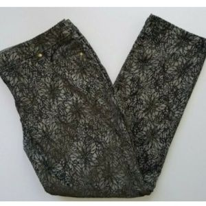Chico's Platinum size 3 flocked shimmer pants
